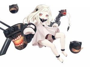 Rating: Safe Score: 70 Tags: a_arrow_z gloves kantai_collection loli northern_ocean_hime red_eyes underwear white white_hair User: FormX