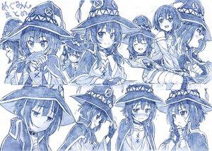 Rating: Safe Score: 90 Tags: blue collar food gloves hat kono_subarashii_sekai_ni_shukufuku_wo! mage megumin monochrome sakino_shingetsu sketch staff witch witch_hat User: otaku_emmy