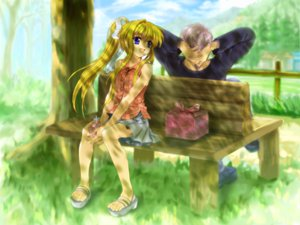 Rating: Safe Score: 12 Tags: air kamio_misuzu kunisaki_yukito moonknives User: 秀悟