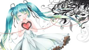 Rating: Safe Score: 13 Tags: aqua_hair dress hatsune_miku heart long_hair ribbons summer_dress tagme_(artist) twintails vocaloid User: luckyluna