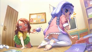 Rating: Questionable Score: 79 Tags: 2girls aqua_eyes book bow brown_hair dress headband kamui_kanna kobayashi-san_chi_no_maid_dragon loli long_hair observerz purple_hair signed skirt tail thighhighs twintails User: gnarf1975