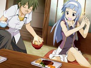 Rating: Safe Score: 22 Tags: blue_hair kannagi_crazy_shrine_maidens male mikuriya_jin nagi User: w7382001