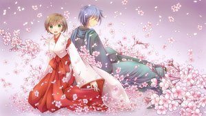 Rating: Safe Score: 32 Tags: cherry_blossoms japanese_clothes kaito lichika meiko short_hair vocaloid User: FormX