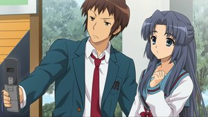 Rating: Safe Score: 29 Tags: asakura_ryouko game_cg kyon male phone school_uniform suzumiya_haruhi_no_tsuisou suzumiya_haruhi_no_yuutsu User: SciFi