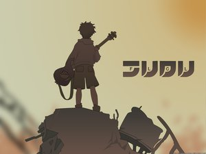 Rating: Safe Score: 9 Tags: flcl guitar instrument nandaba_naota User: Oyashiro-sama