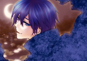Rating: Safe Score: 10 Tags: blue_eyes blue_hair kaito male moon vocaloid User: HawthorneKitty