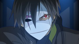 Rating: Safe Score: 9 Tags: all_male black_hair close darker_than_black hei male mask vector User: RyuZU