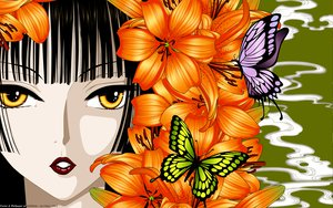 Rating: Safe Score: 45 Tags: butterfly clamp close flowers ichihara_yuuko japanese_clothes vector xxxholic User: gnarf1975