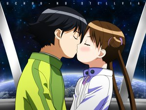 Rating: Safe Score: 0 Tags: katase_shima kiss uchuu_no_stellvia User: Oyashiro-sama