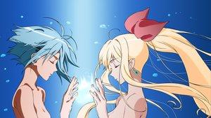 Rating: Safe Score: 39 Tags: blonde_hair blue_hair long_hair marin miyamori pointed_ears ribbons umi_monogatari vector User: lynx