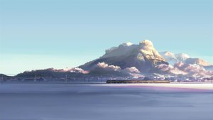 Rating: Safe Score: 147 Tags: byousoku_5_centimetre landscape nobody scenic shinkai_makoto sky snow train User: AliceWonderWorld