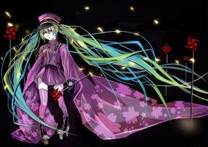 Rating: Safe Score: 43 Tags: hat hatsune_miku long_hair senbon-zakura_(vocaloid) twintails vocaloid User: HawthorneKitty