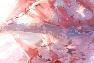 Rating: Safe Score: 34 Tags: cherry_blossoms flowers hatsune_miku long_hair nacho petals pink pink_eyes pink_hair reflection sakura_miku skirt thighhighs tie vocaloid water User: FormX