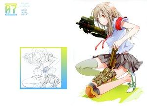 Rating: Questionable Score: 105 Tags: brown_hair fuyuno_haruaki gun original red_eyes school_uniform sketch thighhighs weapon User: Wiresetc