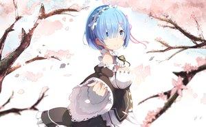 Rating: Safe Score: 122 Tags: blue_eyes blue_hair cherry_blossoms flowers headband mitu_yang petals rem_(re:zero) re:zero_kara_hajimeru_isekai_seikatsu short_hair User: luckyluna