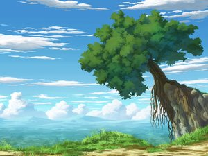 Rating: Safe Score: 79 Tags: aoha_(twintail) clouds grass landscape nobody original scenic sky tree User: FormX