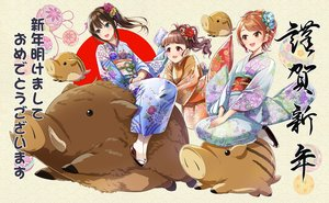Rating: Safe Score: 18 Tags: animal_ears blush brown_hair flowers green_eyes houjou_karen idolmaster idolmaster_cinderella_girls japanese_clothes kamiya_nao kazu kimono long_hair orange_eyes ponytail red_eyes shibuya_rin User: RyuZU