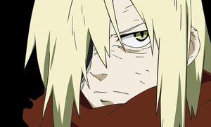 Rating: Safe Score: 10 Tags: all_male black blonde_hair gainax male short_hair tengen_toppa_gurren_lagann vector viral yellow_eyes User: Oyashiro-sama