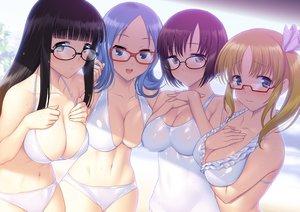 Rating: Questionable Score: 217 Tags: atago_kinue bikini breasts cleavage glasses group saki sawamura_tomoki senoo_kaori shibuya_takami suzume_inui swimsuit tagme wet User: opai
