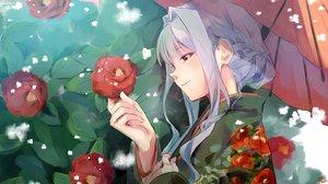 Rating: Safe Score: 52 Tags: close flowers idolmaster japanese_clothes kuzuya_ramurin shijou_takane short_hair sketch umbrella User: BattlequeenYume