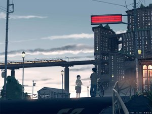 Rating: Safe Score: 44 Tags: bicycle building city teikoku_shounen train User: Oyashiro-sama