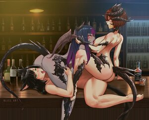 Rating: Explicit Score: 62 Tags: animal_ears au_ra black_hair blush breasts brown_hair catgirl cunnilingus drink final_fantasy final_fantasy_xiv green_eyes horns long_hair miqo'te nipples nude red_eyes short_hair spread_legs tail tribadism uliel watermark yellow_eyes yuri User: SciFi