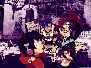 Rating: Safe Score: 21 Tags: kamina simon tengen_toppa_gurren_lagann yoko_littner User: MarySan