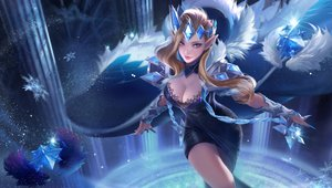 Rating: Safe Score: 104 Tags: blonde_hair blue breasts cleavage dress yueyue User: FormX
