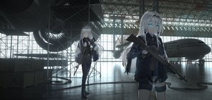 Rating: Safe Score: 67 Tags: aircraft ak12_(girls_frontline) an94_(girls_frontline) anthropomorphism even_(even_yiwen) girls_frontline gun long_hair weapon User: Dreista
