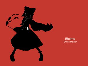 Rating: Questionable Score: 18 Tags: hakurei_reimu ipod japanese_clothes miko parody red silhouette touhou User: grudzioh