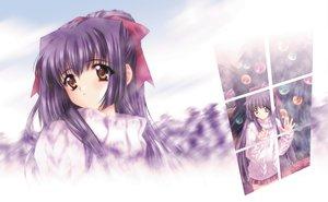 Rating: Safe Score: 5 Tags: brown_eyes carnelian kao_no_nai_tsuki kuraki_suzuna long_hair purple_hair ribbons User: 秀悟