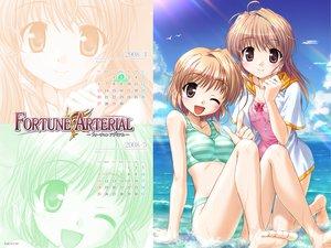 Rating: Safe Score: 14 Tags: 2girls calendar fortune_arterial swimsuit yuuki_haruna yuuki_kanade User: Oyashiro-sama