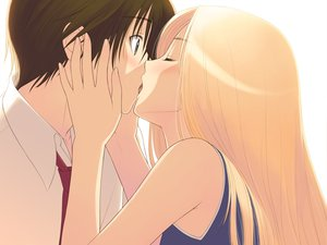 Rating: Questionable Score: 165 Tags: blonde_hair date_wingfield_reiko fault game_cg kiss taka_tony User: Wiresetc