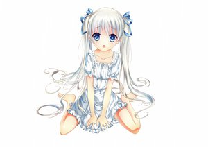Rating: Questionable Score: 76 Tags: blue_eyes dress hizo_(hizoo) loli original twintails white User: Wiresetc