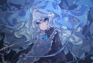 Rating: Safe Score: 26 Tags: blue_eyes bubbles gray_hair iralion lolita_fashion original polychromatic short_hair underwater water User: otaku_emmy