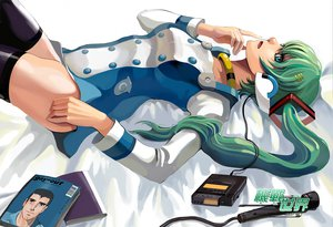 Rating: Safe Score: 31 Tags: eureka_seven green_hair hatsune_miku headphones long_hair parody thighhighs twintails vocaloid User: jorge