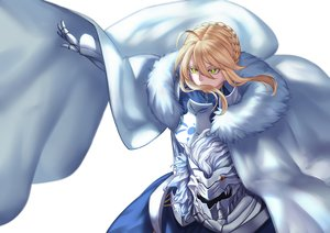 Rating: Safe Score: 96 Tags: armor artoria_pendragon_(all) artoria_pendragon_(lancer) blonde_hair braids cape dress fate/grand_order fate_(series) gloves green_eyes jacky short_hair User: otaku_emmy