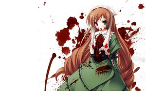 Rating: Questionable Score: 14 Tags: bicolored_eyes blood brown_hair rozen_maiden suiseiseki white User: Lupus9009