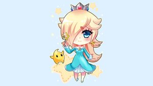 Rating: Safe Score: 51 Tags: blonde_hair blue blue_eyes chibi crown dress felicia-val luma rosalina signed stars super_mario wand User: mattiasc02