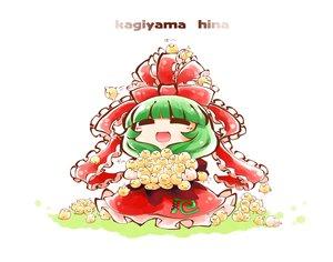 Rating: Safe Score: 4 Tags: animal bird bow dress green_hair kagiyama_hina kashuu_(b-q) long_hair ribbons touhou User: otaku_emmy