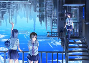 Rating: Safe Score: 142 Tags: city clouds izumi_sai original scenic seifuku sky thighhighs tie User: HawthorneKitty