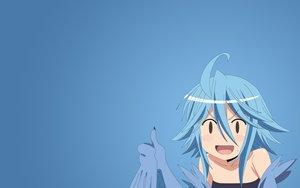 Rating: Safe Score: 95 Tags: blue_hair gradient monster_musume_no_iru_nichijou papi short_hair tagme_(artist) wings User: Precursor