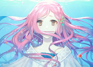 Rating: Safe Score: 139 Tags: brown_eyes bubbles close miki_(vocaloid) pink_hair rowya vocaloid water User: opai