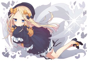 Rating: Safe Score: 51 Tags: abigail_williams_(fate/grand_order) aqua_eyes blonde_hair bow butterfly dress fate/grand_order fate_(series) goth-loli hat loli lolita_fashion long_hair ribbons tagme_(artist) User: BattlequeenYume