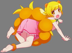 Rating: Safe Score: 33 Tags: animal_ears bakemonogatari barefoot blonde_hair blush dress fang loli long_hair monogatari_(series) oshino_shinobu transparent vector yellow_eyes User: RyuZU