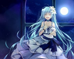Rating: Safe Score: 60 Tags: hatsune_miku twintails vocaloid User: mikulover