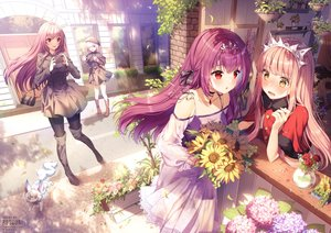 Rating: Safe Score: 173 Tags: aliasing animal blush building cape dress drink fate/grand_order fate_(series) flowers fou_(fate/grand_order) group hat leaves long_hair mash_kyrielight medb_(fate/grand_order) necklace pantyhose phone pink_hair purple_eyes purple_hair red_eyes rose rosuuri scathach_(fate/grand_order) scathach_skadi_(fate/grand_order) short_hair sunflower tiara watermark yellow_eyes User: BattlequeenYume