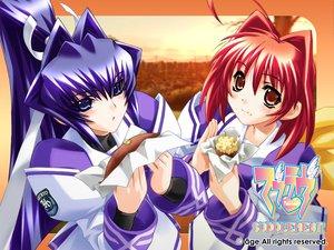 Rating: Safe Score: 8 Tags: age blue_eyes blue_hair kagami_sumika long_hair mitsurugi_meiya muv-luv muv-luv_supplement red_eyes red_hair User: Oyashiro-sama