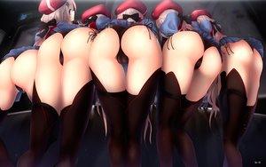 Rating: Questionable Score: 136 Tags: 9a-91_(girls_frontline) anthropomorphism ass cameltoe girls_frontline gizensha panties skirt_lift underwear User: BattlequeenYume