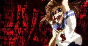 Rating: Safe Score: 134 Tags: blood blue_eyes higurashi_no_naku_koro_ni jpeg_artifacts orange_hair parody ryuuguu_rena school_uniform short_hair soul_eater User: Katsumi